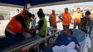 Gölbaşı Devlet Hastanesi'nde Yangın Ve Deprem Tatbikatı