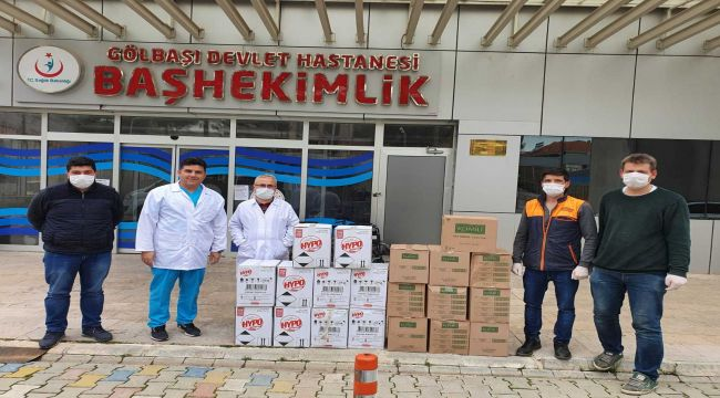 Gölbaşı Devlet Hastanesi'ne Temizlik Malzemesi Bağışı