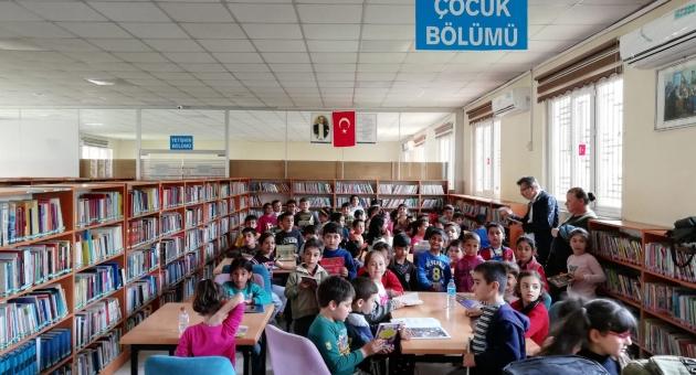 Gölbaşı'nda Minik Öğrenciler Kütüphaneyle Tanıştı