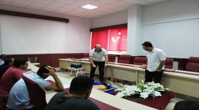İl Sağlık Müdürlüğünden İlk Yardım Eğitimi