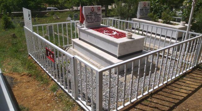 Jandarma Bayram Öncesi Şehit Mezarlığını Onardı