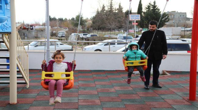Kadın Doğum ve Çocuk Hastalıkları Hastanesine Oyun Parkı Kuruldu