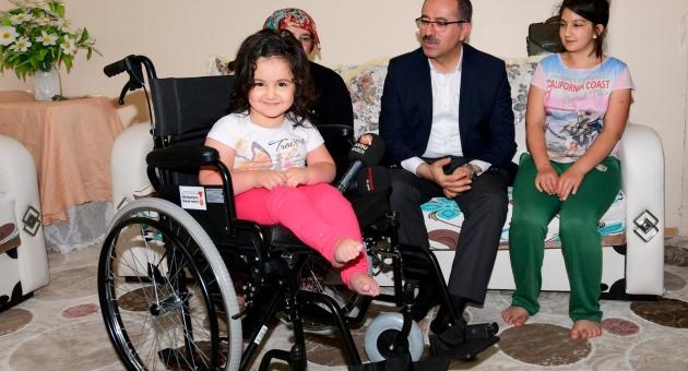 Kahramanmaraş Büyükşehir'den,Tekerlekli Sandalye Desteği