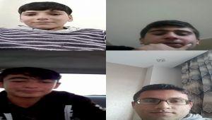 Kahta'da Görüntülü Eğitimle Derslerine Devam Ediyorlar