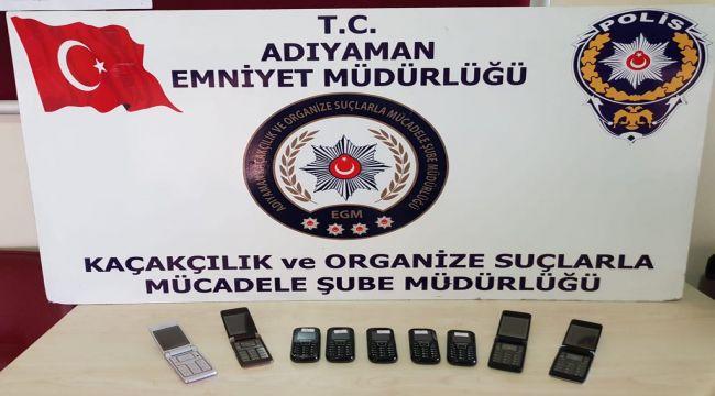 Kahta'da Kaçak Telefon Ele Geçirildi