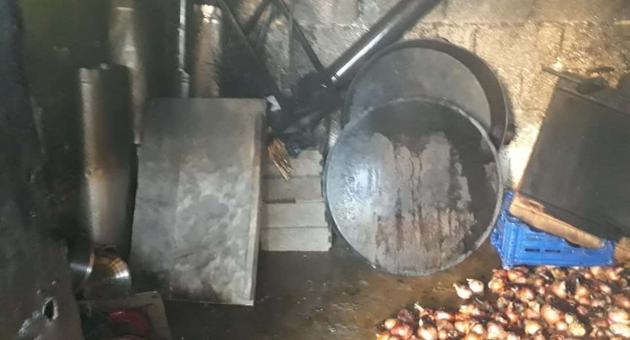 Kahta'da Odunluk Yangını