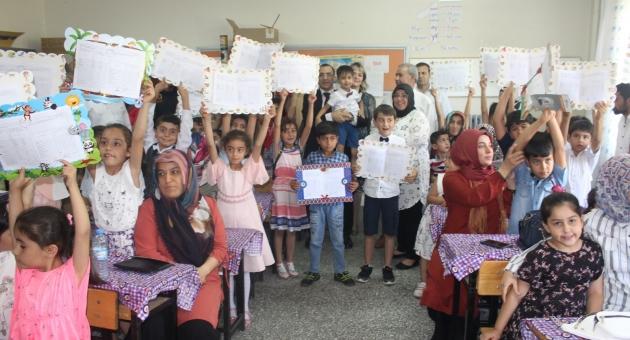 Kahta'da Öğrencilerin Karne Sevinci