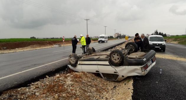 Kahta'da Otomobil Devrildi: 5 Yaralı