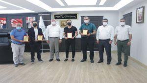 Kahta'da, TRT Kurdi'nin başarılı spor yayınlarına ödül verildi