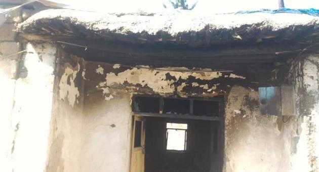 Kahta'da Yangında 3 Kardeş Son Anda Yanmaktan Kurtarıldı