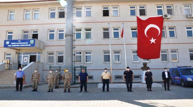 Kaymakam İmamoğlu'ndan ilçe jandarma komutanlığına ziyaret