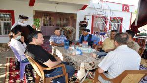 Kaymakam İmamoğlu'ndan şehit ailesine ziyaret