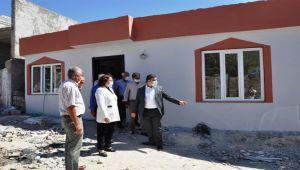 Kaymakam İmamoğlu, Zeytin Dalı Harekatı şehidi için yaptırılan evin inşaatını inceledi