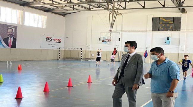 Kaymakam Köksal'dan yaz spor kurslarına ziyaret