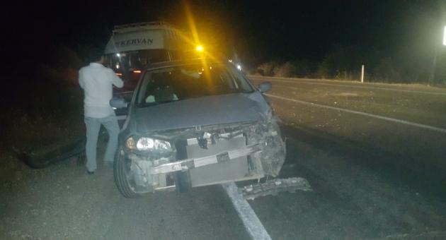 Kına Gecesine Giden Minibüs Kaza Yaptı : 5 Yaralı
