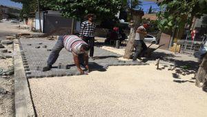 Kireçhane ve Vatan caddelerinde kaldırım çalışması