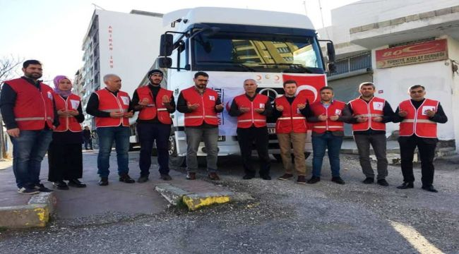 Kızılay'dan İdlib'e İnsani Yardım Gönderildi