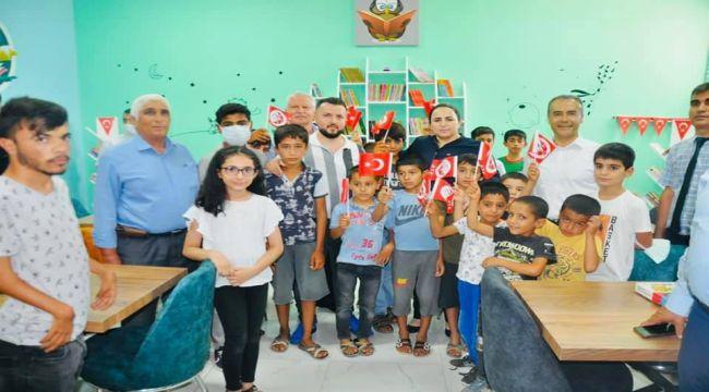Köy okullarından biri daha kütüphaneye kavuştu