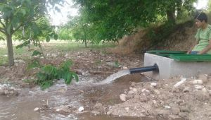 Köylerde tarım arazisi sulama projesi çalışmaları devam ediyor