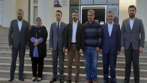 Milletvekili Aydın'dan Kahta Kaymakamı'na Ziyaret