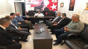 MKYK Üyesi Altınöz'den Başkan Aslan'a ziyaret