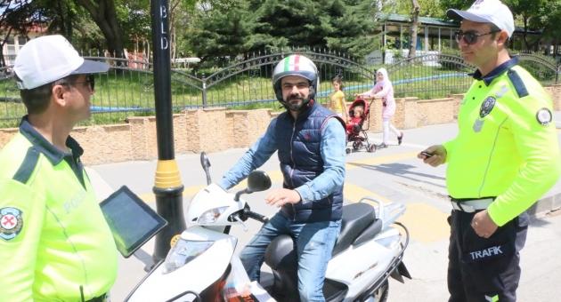 Motosiklet Trafik kontrol Uygulaması Aralıksız Devam Ediyor