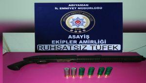 Polis, Şüpheli Şahıslarda Silah, Tüfek ve Mermi Ele Geçirdi