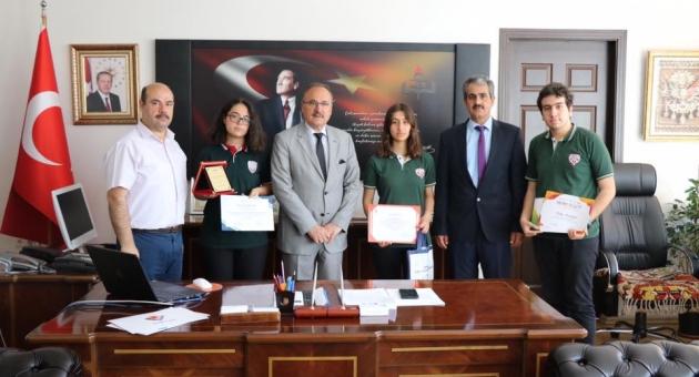 Projeleriyle Derece Yapan Öğrencilerden, Alagöz'e Ziyaret