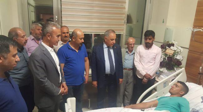 Rektör Turgut'tan Ceylanpınar Gazisi Kaplan'a Ziyaret