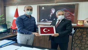 Rektör Turgut'tan, Sosyal Hizmetler İl Müdürü Çelik'e ziyaret