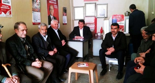 Saadet Partisi Adayı Bora, MHP Adayı Yaylagül'ü Ziyaret Etti