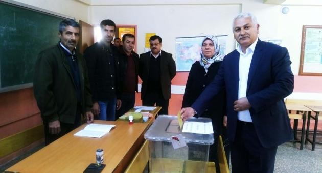 Saadet Partisi Adayı Mehmet Bora, Oyunu Kullandı