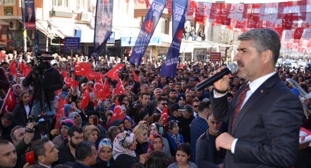 Saadet Partisi Besni Seçim Bürosu Görkemli Bir Şekilde Açıldı