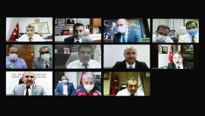 Sağlık Bakanı Koca, Sağlık Müdürü Öz ile görüştü