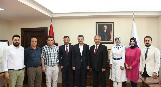 Sağlık -Sen'den Üniversite Rektör Prof. Dr. Turgut'a Ziyaret