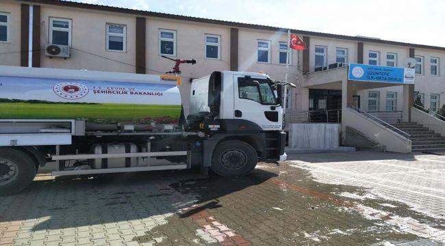 Samsat Belediyesi, Don Yaşanan Köy Okullarına İçme Suyu Taşıdı