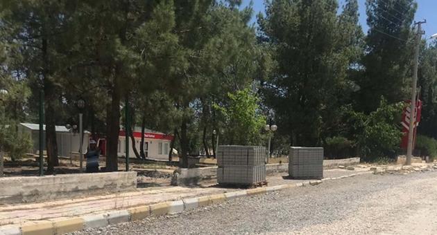 Samsat'ta Depremden Zarar Gören Parklar Onarılıyor