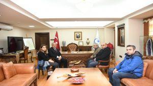 Şehit Eşi Uluçay'dan Rektör Turgut'a Ziyaret