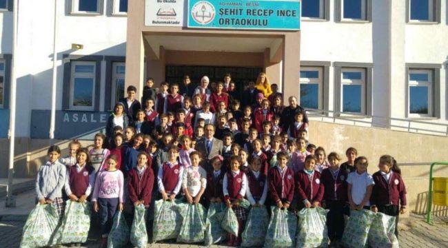 Şehit Recep İnce Ortaokuluna Kıyafet Yardımı