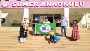 Sümer Anaokulu 'Yeşil Bayrak' ödülünü aldı
