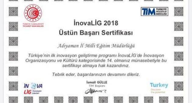 Türkiye İhracatçılar Meclisinden Adıyaman'a Üstün Başarı Belgesi