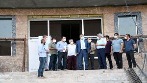 Vali Çuhadar, 112 Acil Çağrı Merkezi inşaatını inceledi