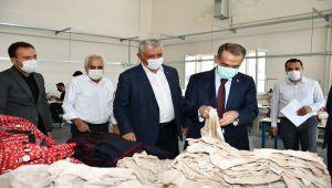 Vali Çuhadar, ASGEM'deki atölyeleri gezdi