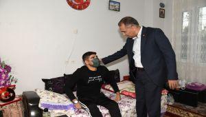 Vali Çuhadar'dan, Gazi Uzman Çavuş Musa Taştan'a geçmiş olsun ziyareti