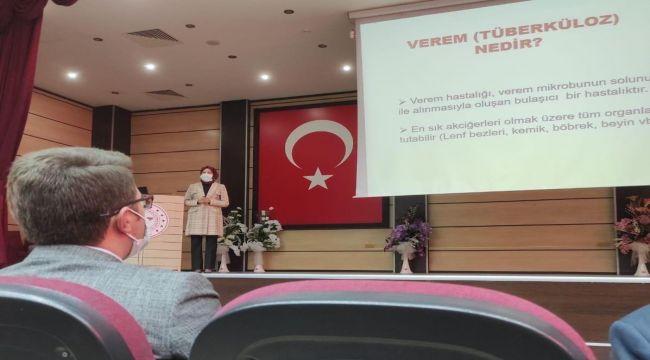 'Verem Eğitimi ve Farkındalık Haftası' toplantısı düzenledi