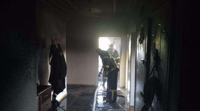Yangında Anne Ve 3 Yaşındaki Çocuğu Dumandan Etkilendi