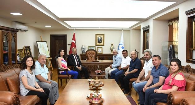 Yeşilay Derneği ve Hayat Vakfından Rektör Turgut'a Ziyaret